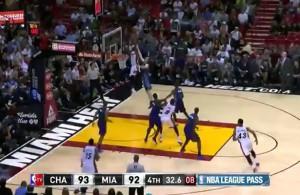 Chris Bosh Game Winning Fadeaway over the Hornets