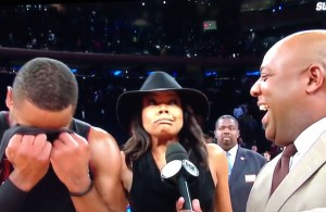 Video: Gabrielle Union Takes Over Dwyane Wade's Post Game Interview