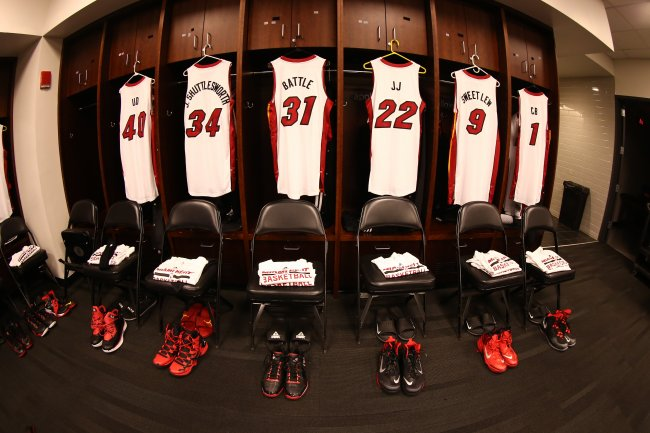 competitive price 0271b 75cd9 The Evolution of Miami Heat Uniforms throughout Franchise ...