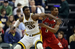 Chris Bosh and Roy Hibbert