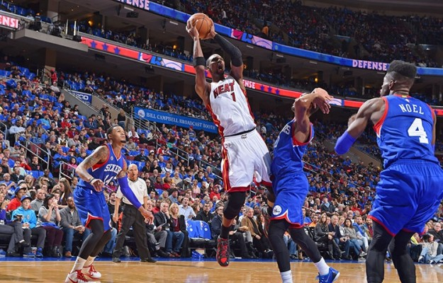 Chris Bosh against the Sixers
