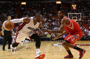 Dwyane Wade against Houston ROckets