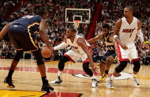 Dwyane Wade against the Indiana Pacers