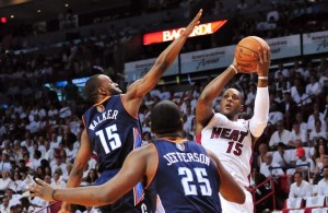 Mario Chalmers against Charlotte Hornets