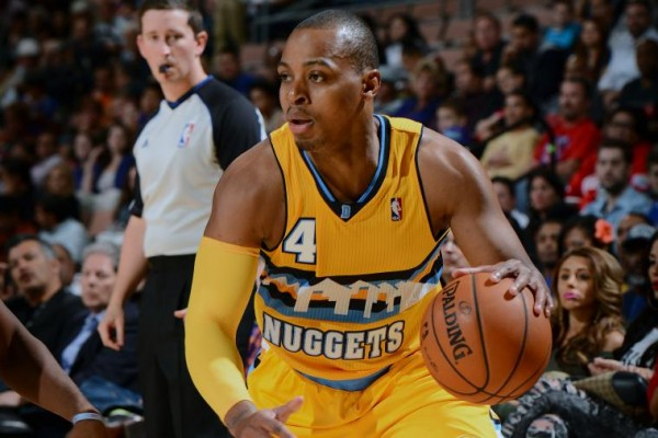 Randy Foye of the Denver Nuggets