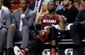 Wade/Bosh On Bench