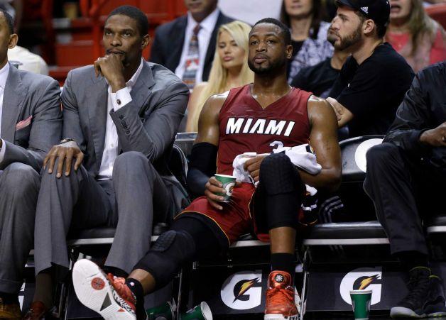 Wade/Bosh On Bench