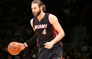 Josh McRoberts of the Miami Heat