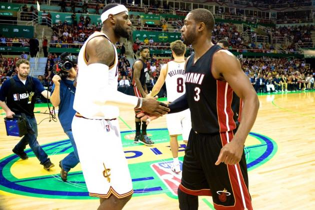 LeBron James and Dwyane Wade, Heat and Cavs