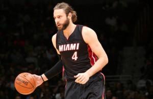 Josh McRoberts of the Miami Heat