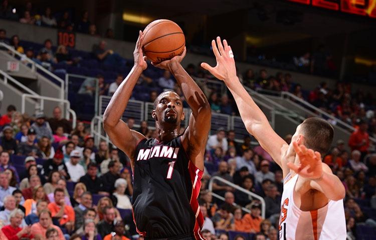 Chris Bosh 34 points against Phoenix Suns