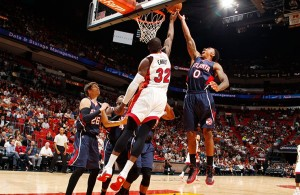 James Ennis against the Atlanta Hawks