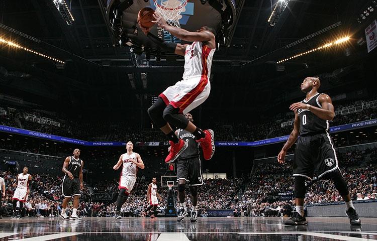 Dwyane Wade against the Brooklyn Nets