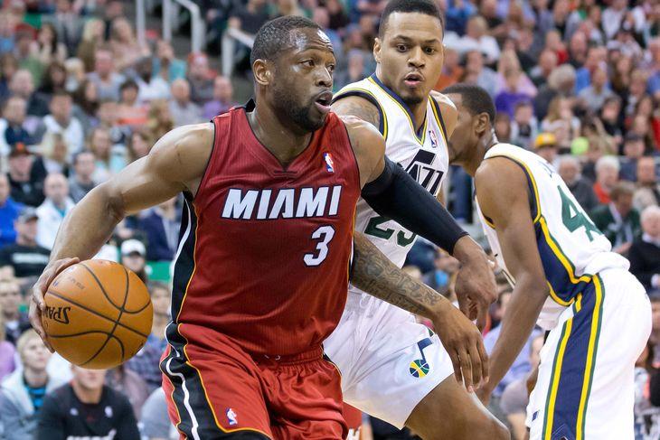 Dwyane Wade against the Utah Jazz