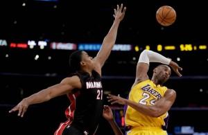 Hassan Whiteside Blocks Kobe Bryant