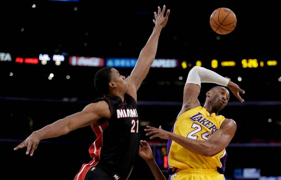 Hassan Whiteside Blocks Kobe Bryant
