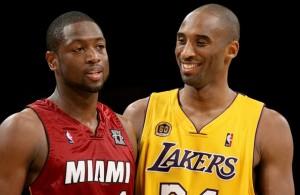 Dwyane Wade and Kobe Bryant