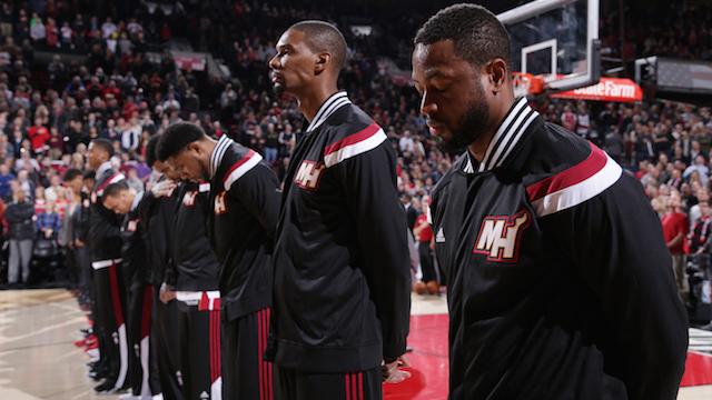 Miami Heat pre-game warmups