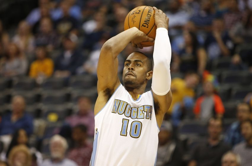 Arron Afflalo of the Denver Nuggets