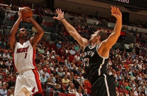 Chris Bosh against the Brooklyn Nets