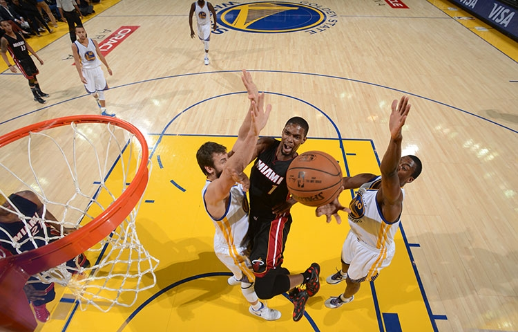 Chris Bosh against the Golden State Warriors