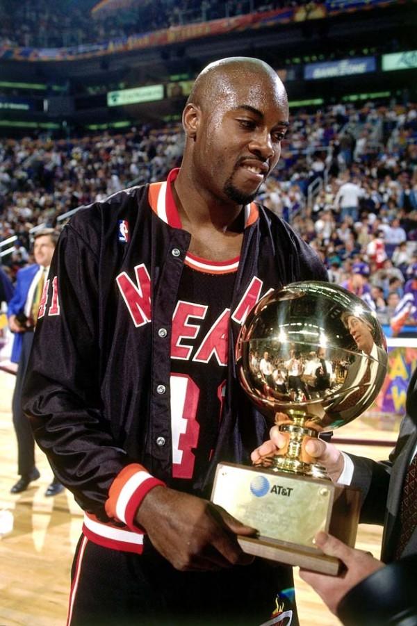 Glen Rice of the Miami Heat three-point contest