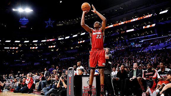 James Jones Miami Heat three-point contest