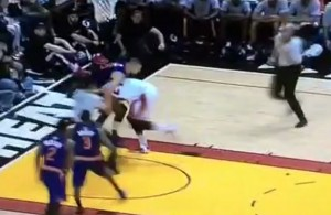 Video: Hassan Whiteside Gets Ejected After Tackling Alex Len