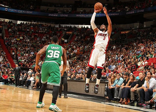 Miami Heat vs. Boston Celtics Game Recap: Heat Fall Again at Home Despite Wade's 34