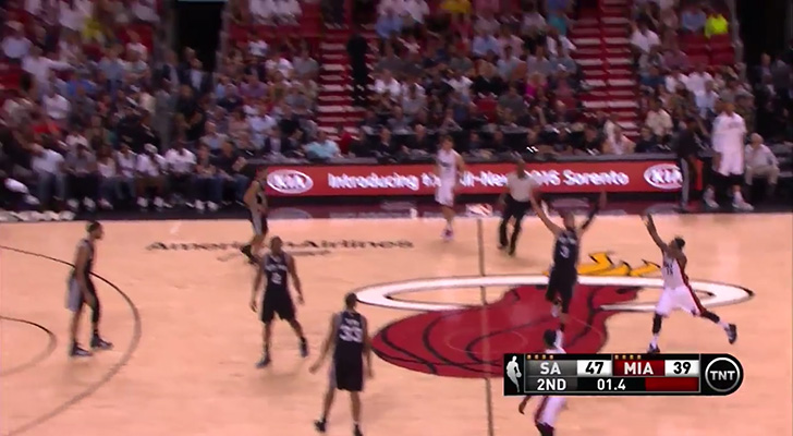 Video: Mario Chalmers Swishes a 70-Footer at the Buzzer