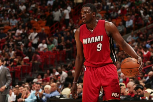 Luol Deng of the Miami Heat
