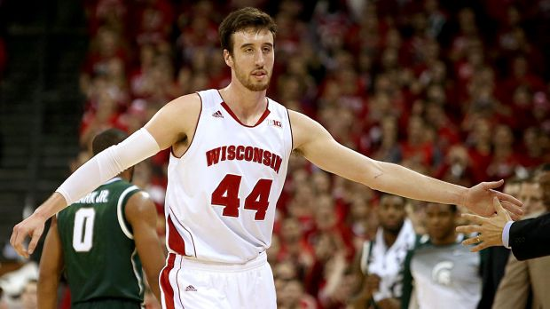 Frank Kaminsky of the Wisconsin Badgers