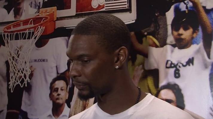 Chris Bosh Discusses LeBron James, Playoffs and Blood Clots Ailment