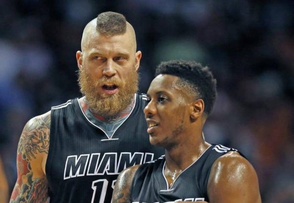 Chris Andersen and Mario Chalmers