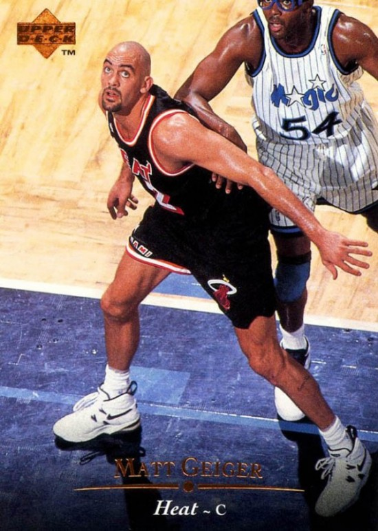 Matt Geiger of the Miami Heat