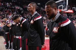 Miami Heat Team in Warmups