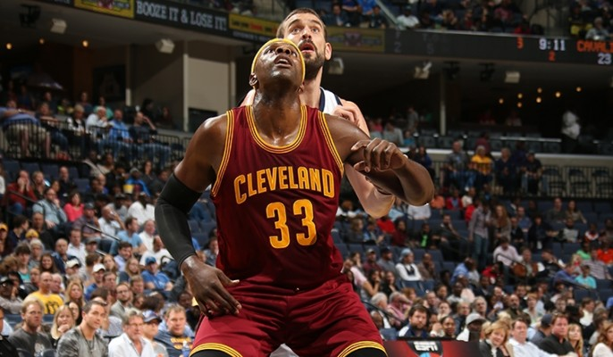 Brendan Haywood of the Cleveland Cavaliers