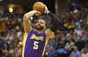 Carlos Boozer of the Los Angeles Lakers