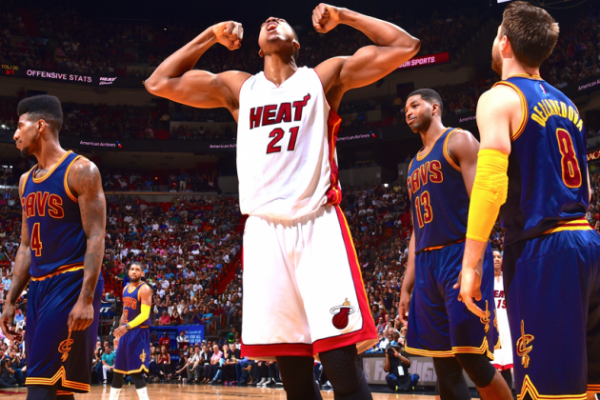 Hassan Whiteside of the Miam iHeat