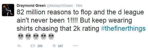 Draymond Green Tweet 2