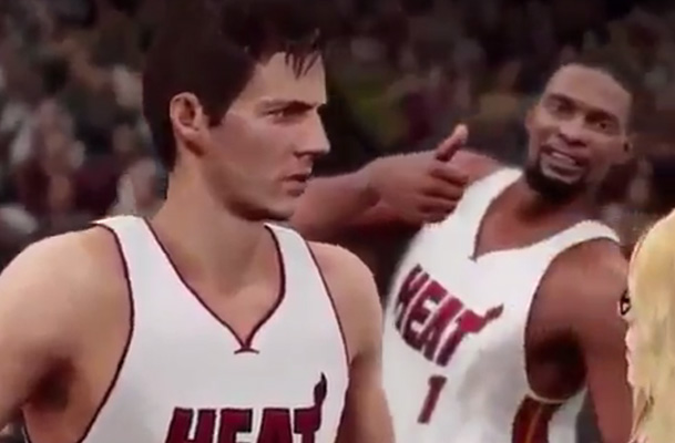 Video: Chris Bosh with the Hilarious Video Bomb in NBA 2K16