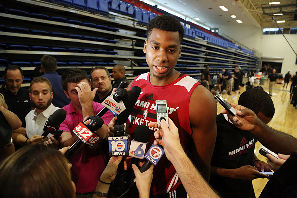 Hassan Whiteside Miami Heat Training Camp