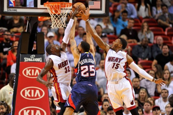 Mario Chalmers and James Ennis