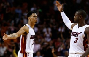 Gerald Green and Dwyane Wade