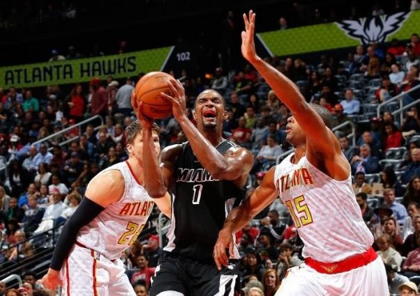 Chris Bosh vs. Atlanta Hawks on December 14, 2015