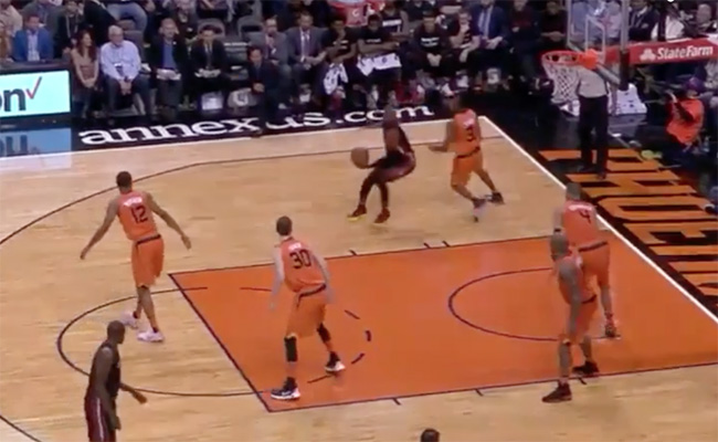 Video: Dwyane Wade Turns Back the Clock with the Filthy Spin and Dunk