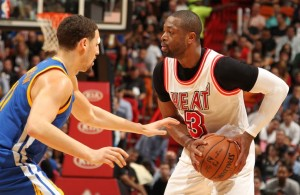 Klay Thompson and Dwyane Wade