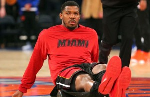 Joe Johnson Miami Heat warmups