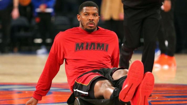 Joe Johnson Miami Heat warmups
