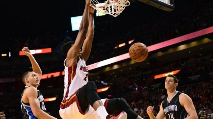 Hassan Whiteside vs. Orlando Magic on March 25, 2016